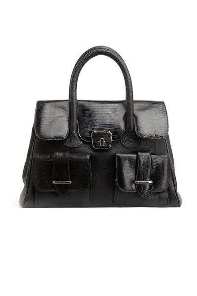 Daniella Ortiz - Olivia Black Lizard Handbag