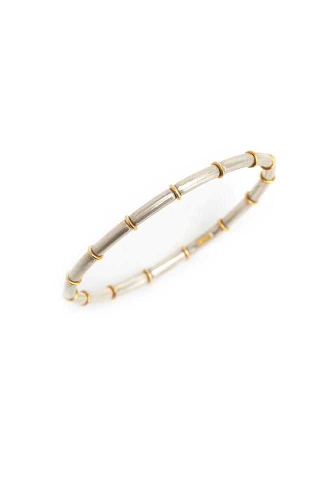 Gold Ring Sterling Silver Bracelet