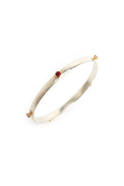 Gurhan - Red Topaz Wide Bangle Bracelet