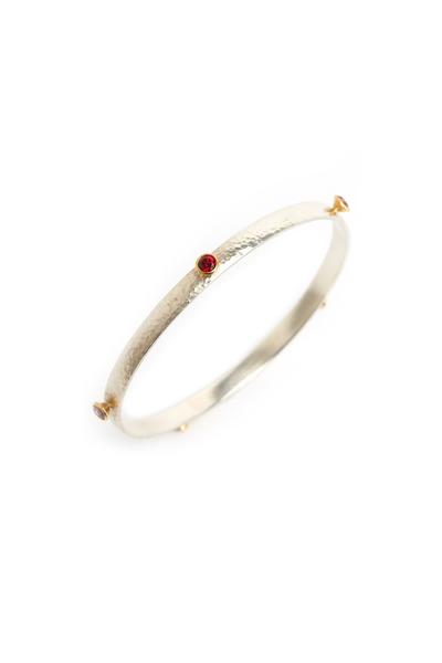 Gurhan - Red Topaz Wide Bangle Bracelet