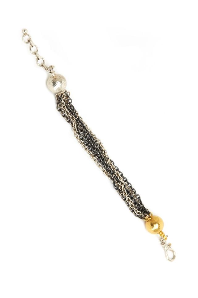 Hammered Strand Ball Bracelet