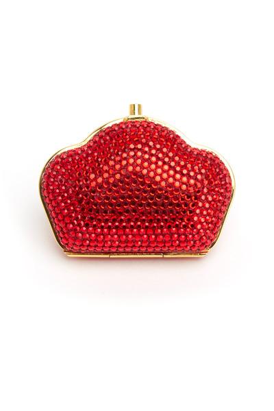 Precious - Judith Leiber Red Crystal Pill Box
