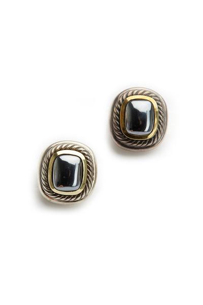 Precious - Grey Pearl Clip Earrings