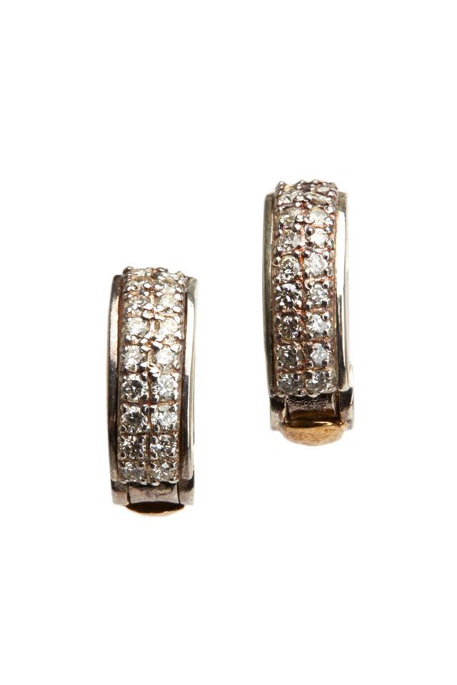 Honeycomb Black Diamond Earrings