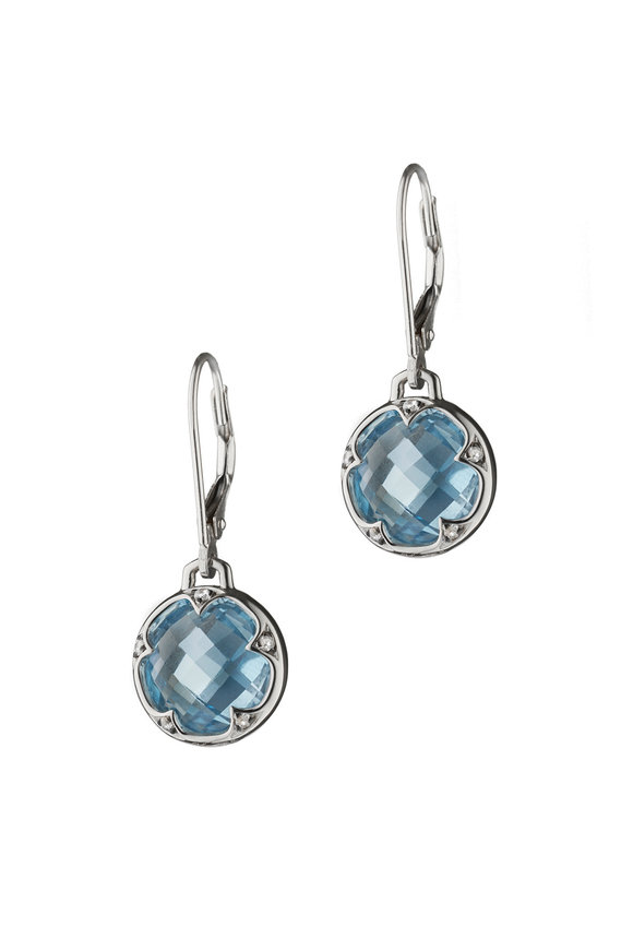 Monica Rich Kosann Sterling Silver Topaz Earrings