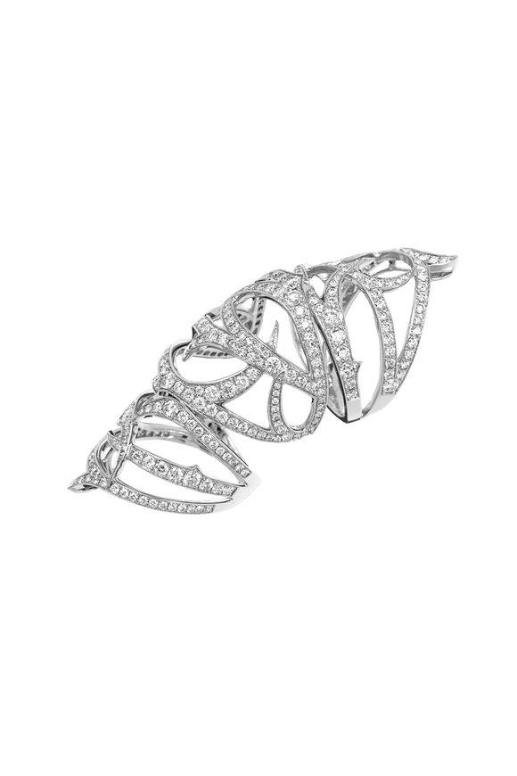 Stephen Webster White Gold & Diamond Thorn Long Finger Ring