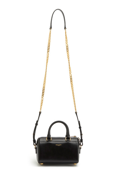 Saint Laurent - Noir Veau Lisse Black Leather Duffle