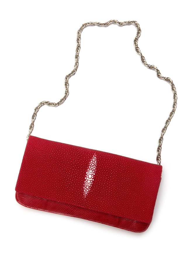 Kate Red Stingray Clutch