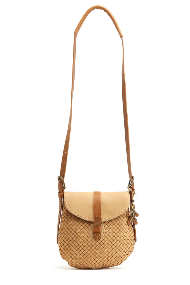Blancha Sand Washed Leather Crossbody Handbag