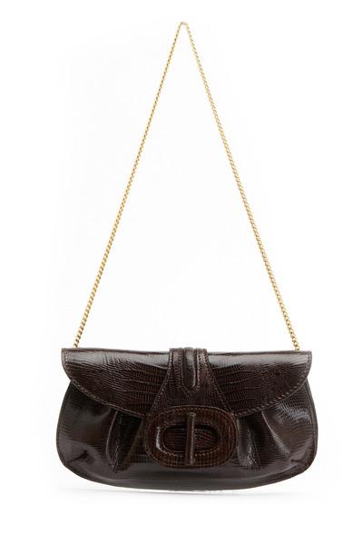 Daniella Ortiz - Serena Brown Lizard Handbag