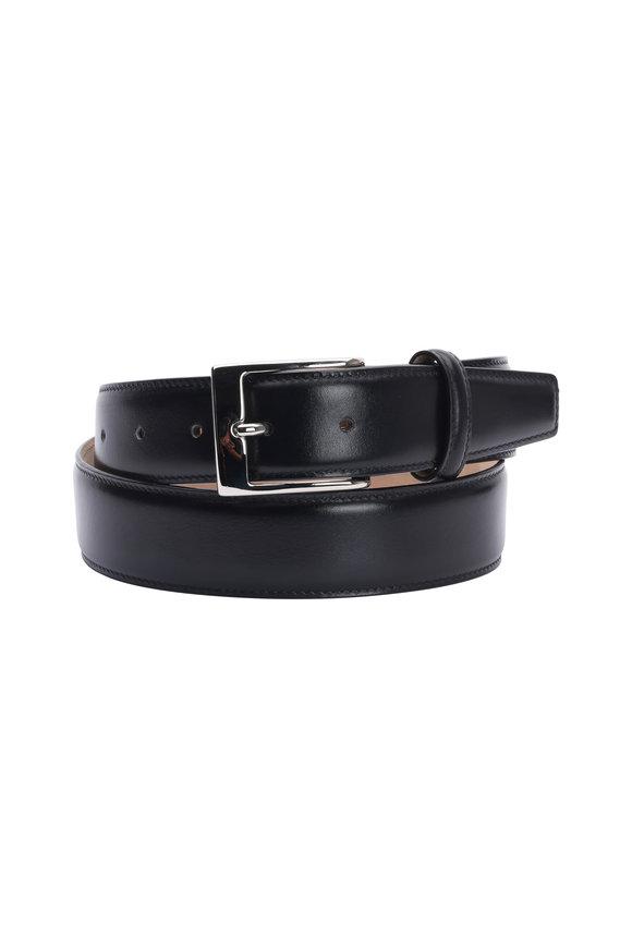 Olop Black Leather Belt