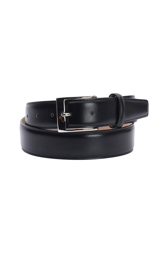 Olop Black Leather Belt