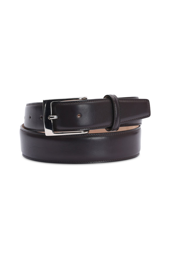 Olop Dark Brown Leather Belt