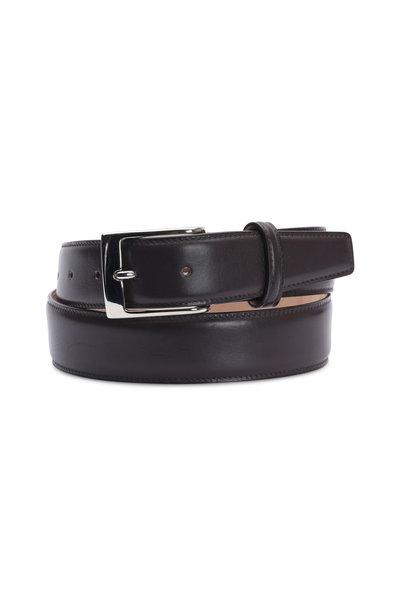 Olop - Dark Brown Leather Belt