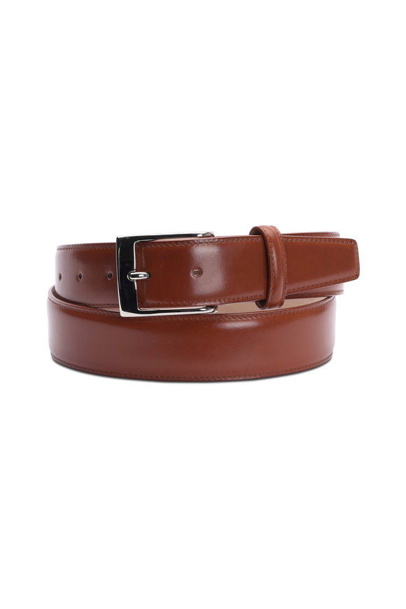 Olop Tan Leather Belt