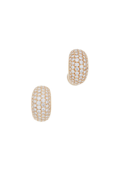 Oscar Heyman - 18K Yellow Gold Diamond Huggie Earrings