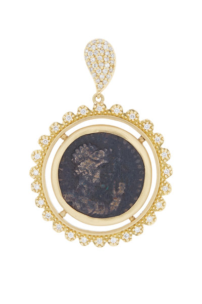 Coomi - 20K Yellow Gold Coin Pendant