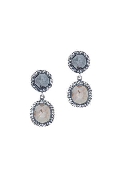 Yossi Harari - Lilah Brilliant Black Diamond Dangle Earrings