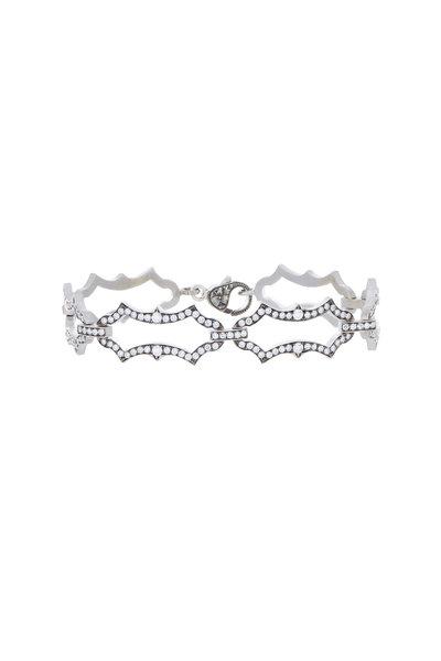 Sylva & Cie - 18K White Gold Diamond Link Bracelet