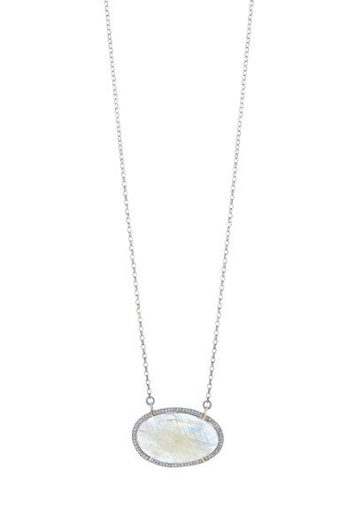 Loren Jewels - Sapphire & Diamond Sterling Silver Necklace