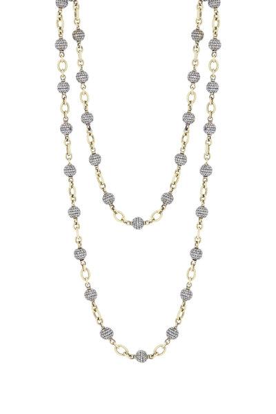 Sylva & Cie - 18K Gold & Silver Diamond Bead Chain
