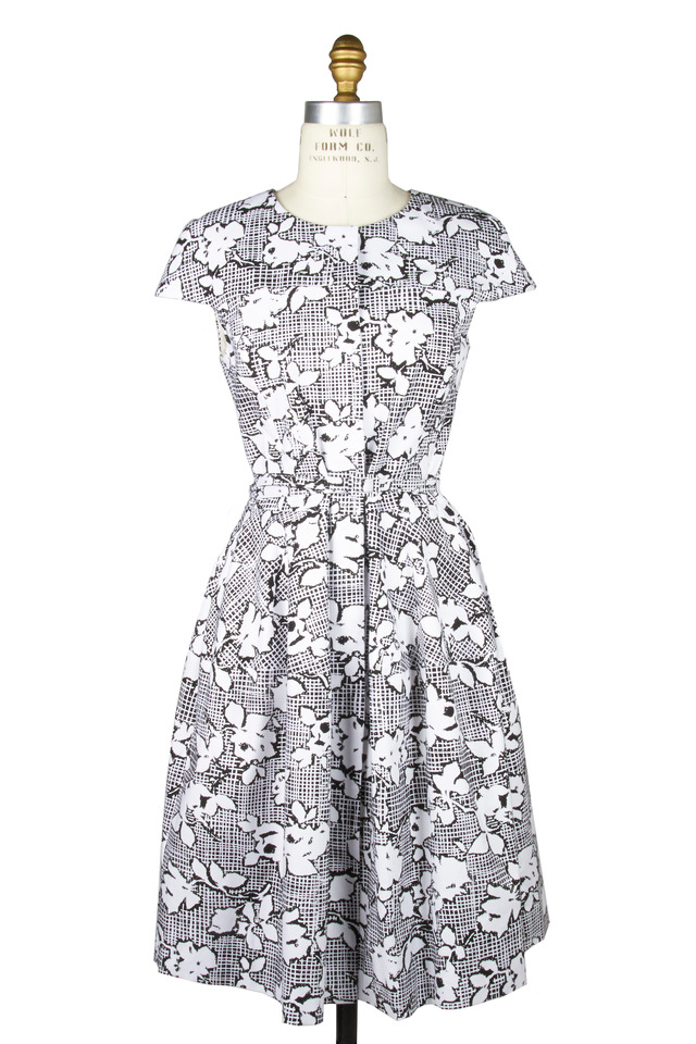 Black & White Cotton Dress