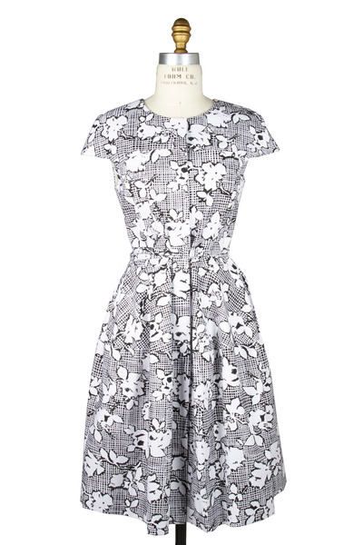 Oscar de la Renta - Black & White Cotton Dress