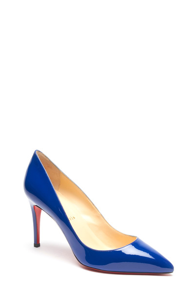 Christian Louboutin - Pigalle Neptune Blue Patent Leather Pump, 85mm