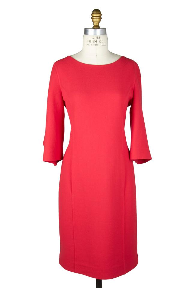 Coral Crepe Dress