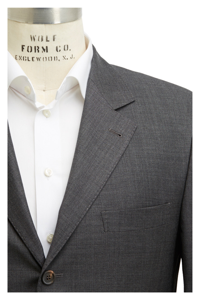 Dark Gray Solid Suit