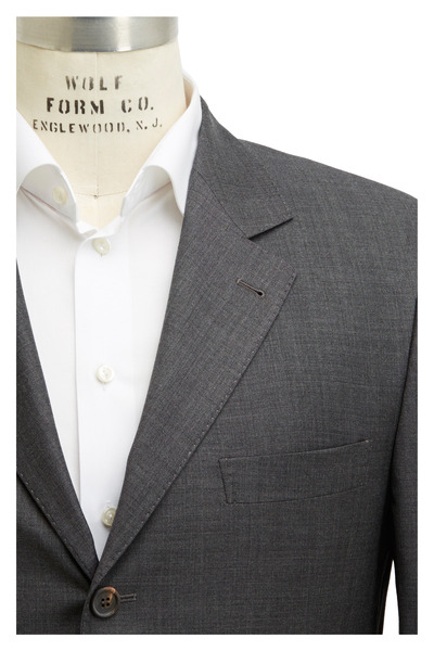 Brunello Cucinelli - Dark Gray Solid Suit
