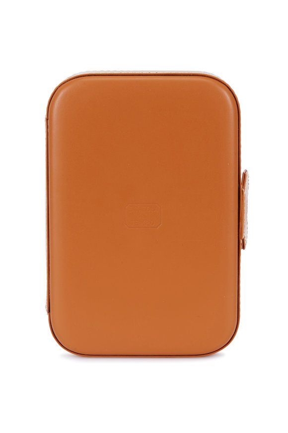 Scatola del Tempo Tan Leather Trousse