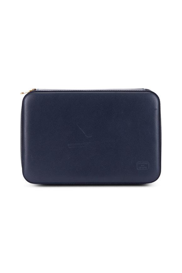 Scatola del Tempo Navy Blue Leather Case