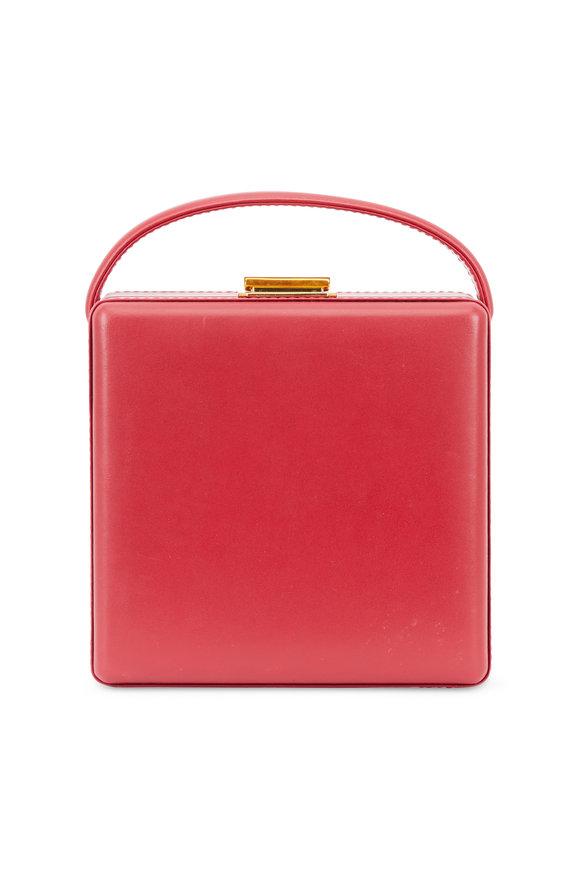 Scatola del Tempo Red Leather Jewelry Case