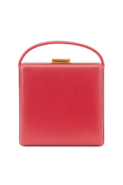 Scatola del Tempo - Red Leather Jewelry Case