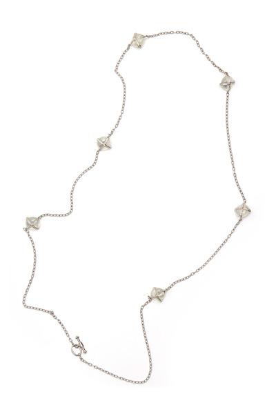 Nam Cho - Gold Pools Of Light Moonstone Diamond Necklace