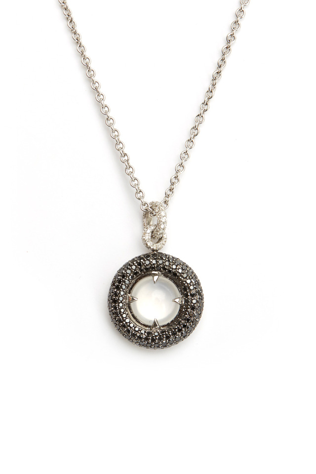 White Gold Reversible Diamond Donut Pendant
