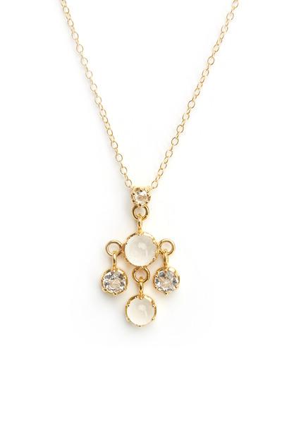 Nam Cho - Gold Silvolite & White Topaz Diamond Pendant