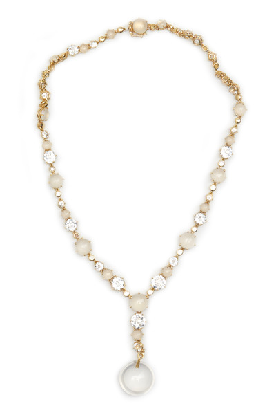 Nam Cho - Gold Silvolite & White Topaz Diamond Necklace
