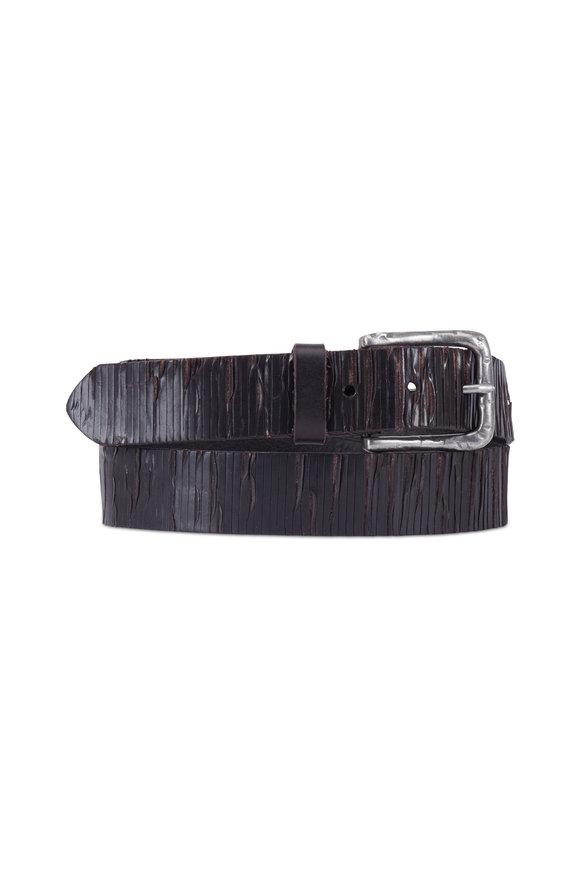 Aquarius The Neri Brown Soft-Cut & Creased Leather Belt