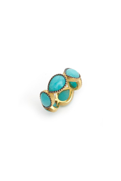 Sylva & Cie - Gold Pear-Shape Amazonite Stack Band