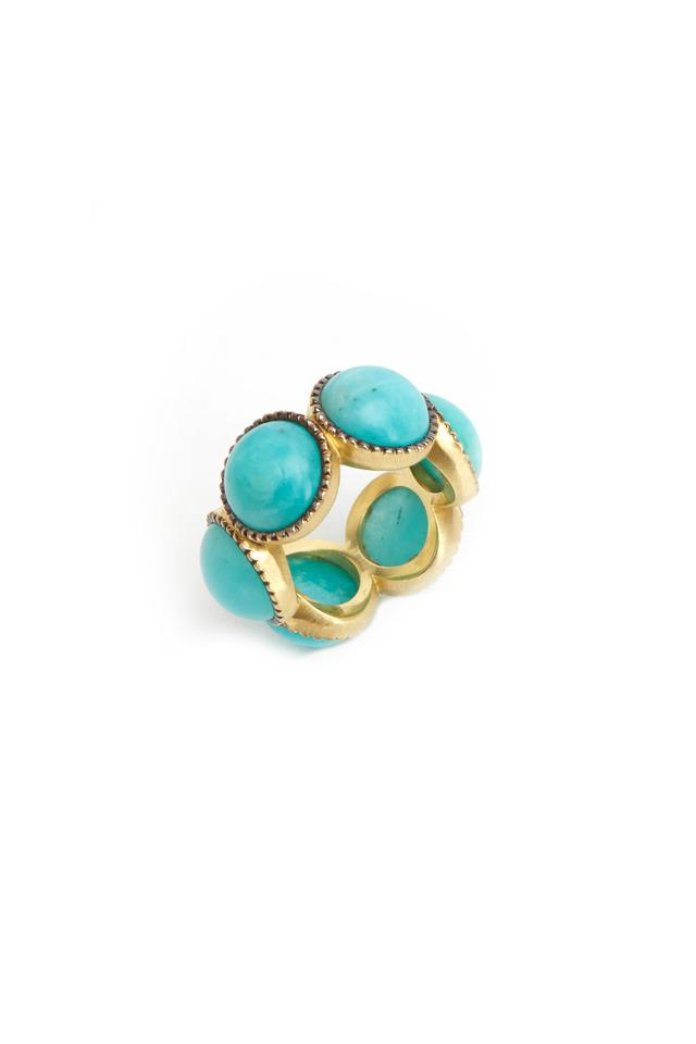 Gold Amazonite Band Ring
