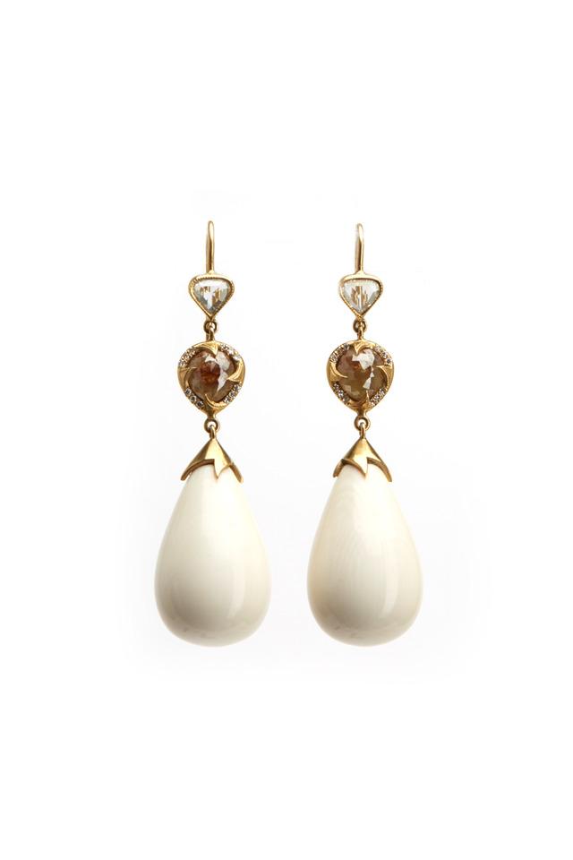 Mammoth Bulb Drop Diamond Earrings
