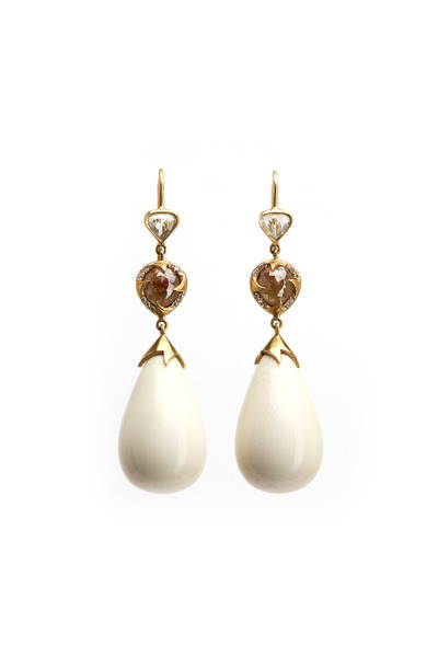 Sylva & Cie - Mammoth Bulb Drop Diamond Earrings