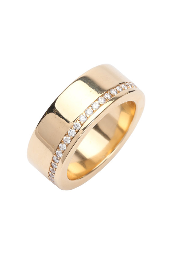 Kathleen Dughi 18K Yellow Gold Diamond Band