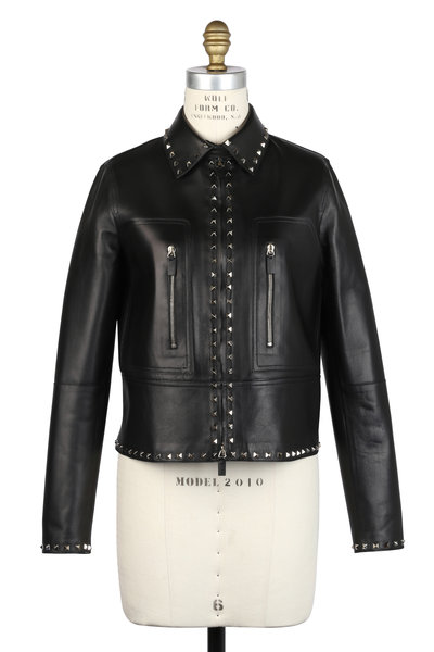 Valentino - Rockstud Black Leather Jacket