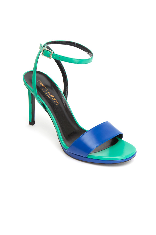 Jane Blue & Turquoise Leather Sandals