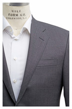Hickey Freeman - Beacon Solid Gray Birdseye Fancy Suit