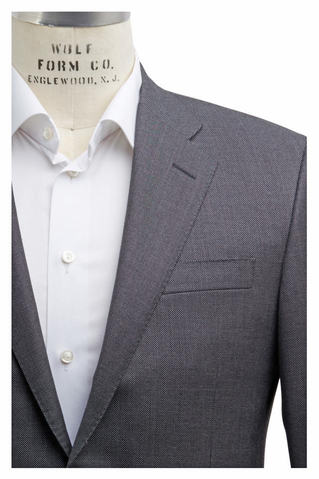 Beacon Solid Gray Birdseye Fancy Suit