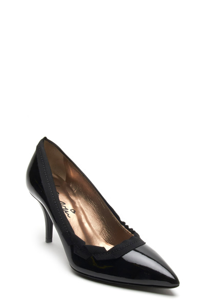 Lanvin - Black Patent Leather Ruffle Pump, 75mm